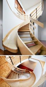 Platz sparen Treppenhaus