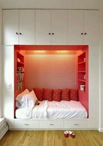 Platz sparen Bett im Schrank