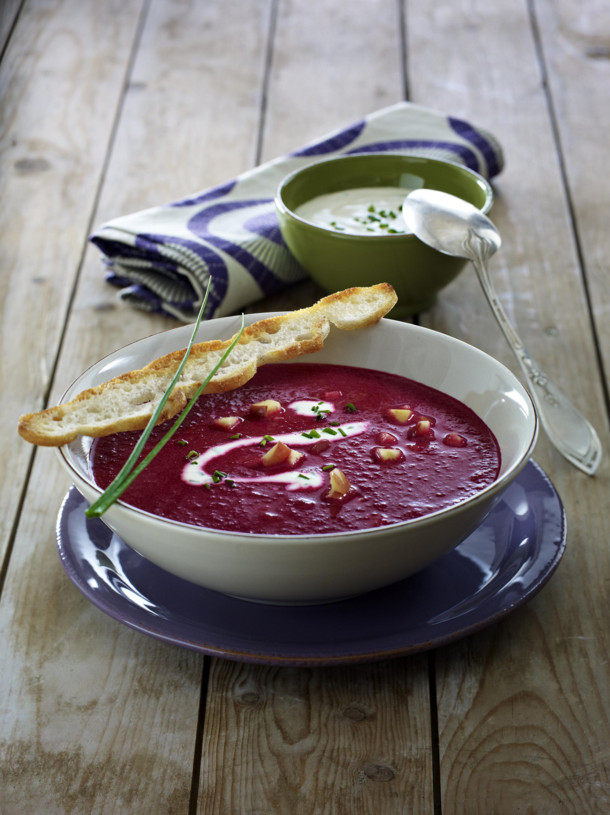 Suppe Mal anders Rote Beete Suppe mit Lebkuchen Geschmack