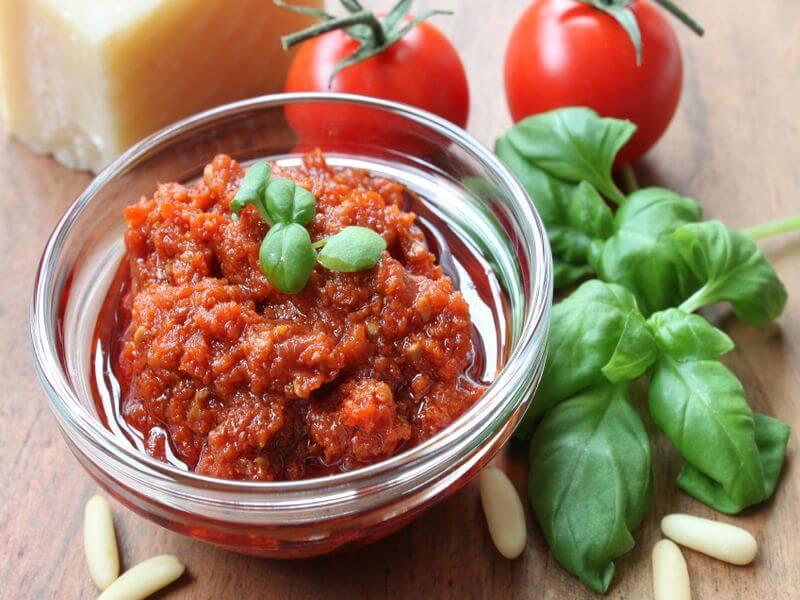 Pesto Rosso Rezept Ideen für die andere Verwendung